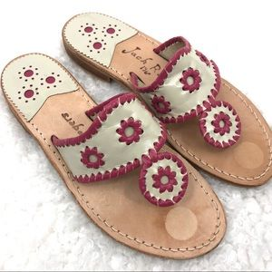 Jack Rogers Leather Thong Flat Flip Flop Sandals